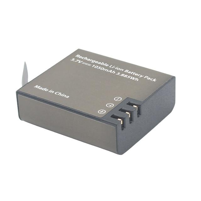 GTF 3.7V PG1050mAH Battery For EKEN Action Camera H9 H9 H3 H3R H8PRO H8R H8 pro SJ4000 SJCAM SJ5000 M10 SJ5000X Recharge battery 1
