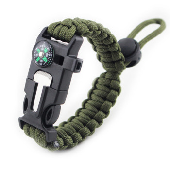 4 in 1 Tactical Survival Starter Whistle Compass Scraper Knife 1