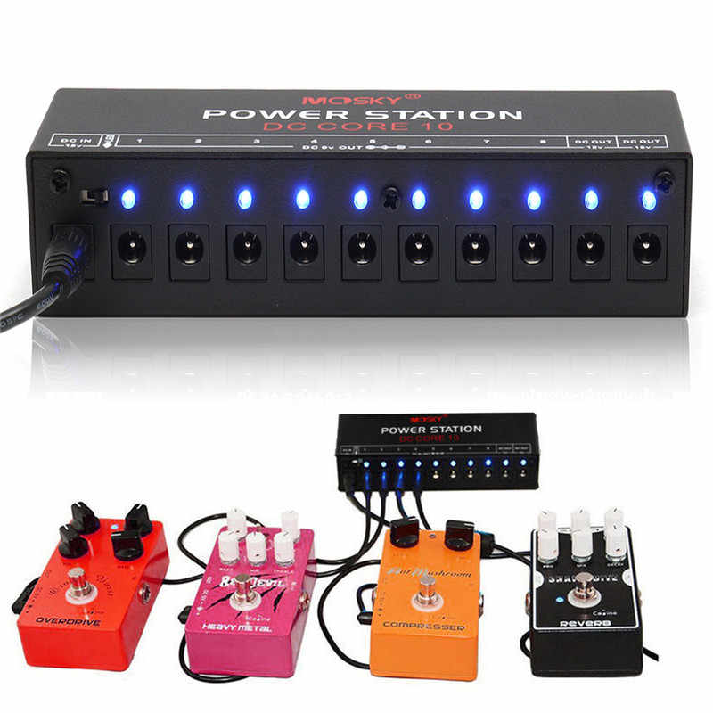 زيبرا 9 فولت 12 فولت 18 فولت الغيتار تأثير محطة 10 الناتج معزولة امدادات الطاقة ل الدواسات الغيتار الموسيقية أجزاء الملحقات