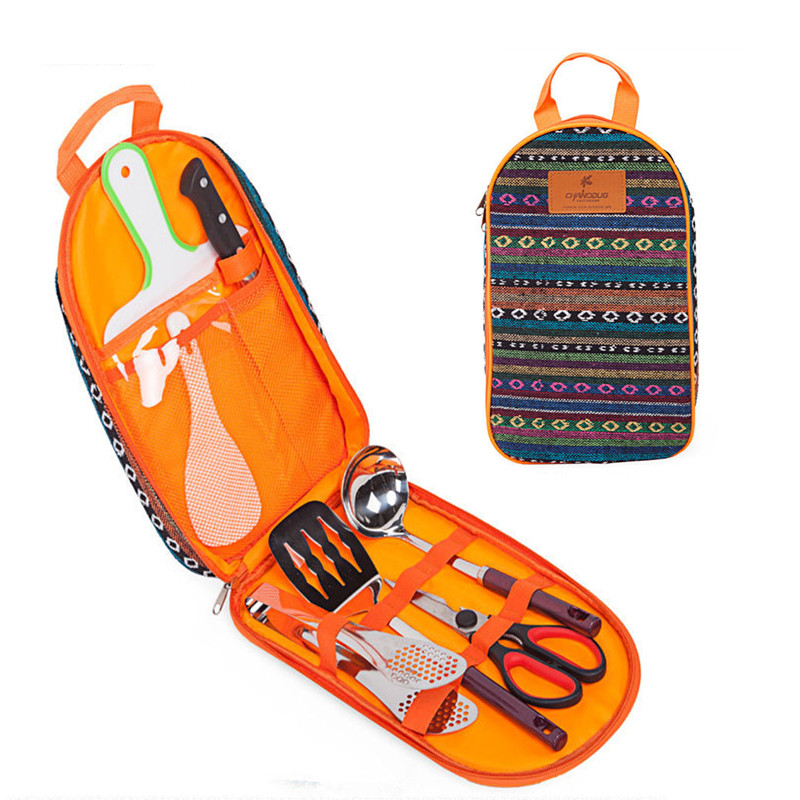 Outdoor Cooking Utensil Set Camping Picnic Barbecue Tableware Portable Camping Cookware Cutlery Set diabetes self management in rural palestinian community