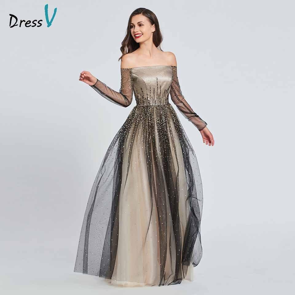Elegant Long Sleeve Wedding Dresses: Aliexpress.com : Buy Dressv A Line Off The Shoulder Long