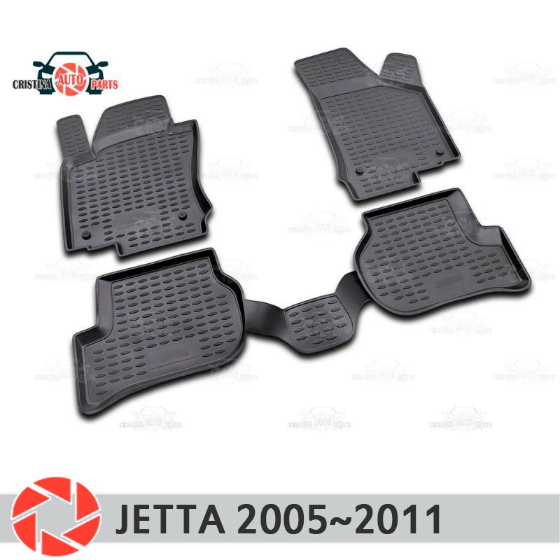цены Floor mats for Volkswagen Jetta 2005~2011 rugs non slip polyurethane dirt protection interior car styling accessories