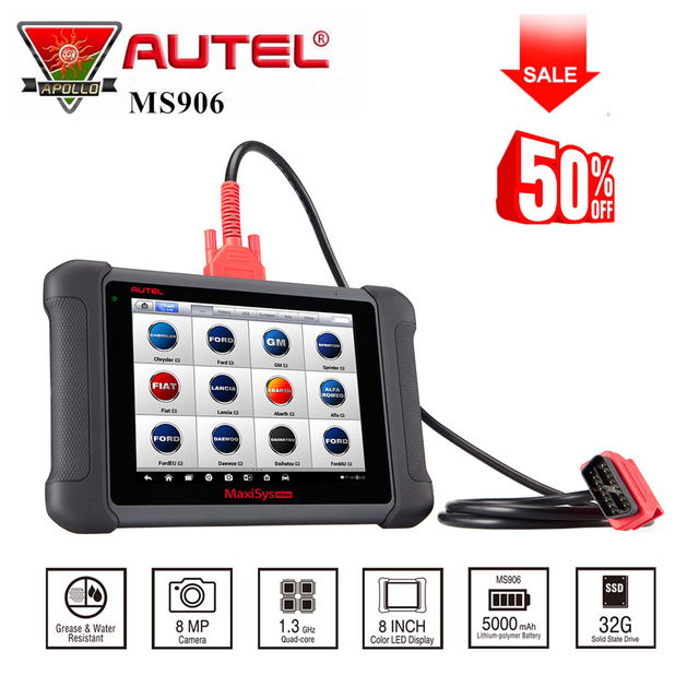Best Offers AUTEL MaxiSYS MS906 Android 4.0 WIFI Auto Diagnostic Scanner Powerful Than DS708 MaxiTPMS TS401 TPMS diagnostic &service tool