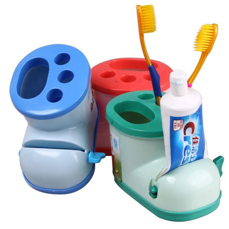 Creative shoe boot toothbrush holder multifunctional plastic tooth holder Bathroom washware toothpaste holder plastic storage image