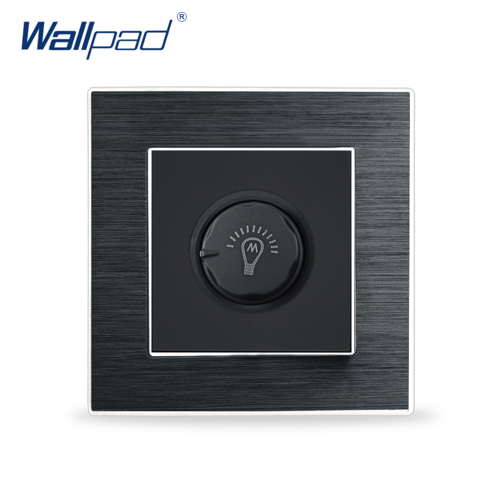Dimmer Switches Wallpad Luxury Wall Light Switch Aluminium Satin Metal Panel Knob Switches Interrupteur Dim Incandescent Lamp tosoku magnification machine tool band switch 03l dpn03010l20r 03l dpn03 010l20r cnc panel knob switch