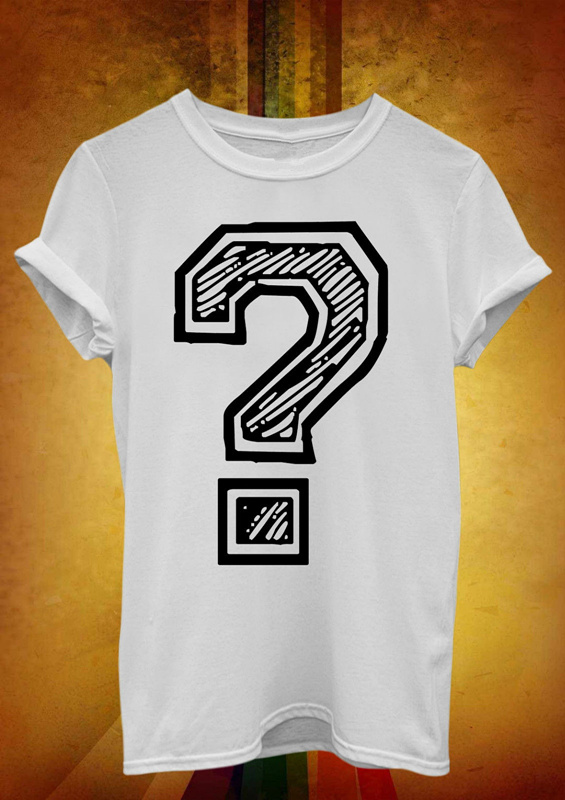 Game Shirt Short Crew Neck Question Mark Point Curious Funny Zomer Mens T Shirts