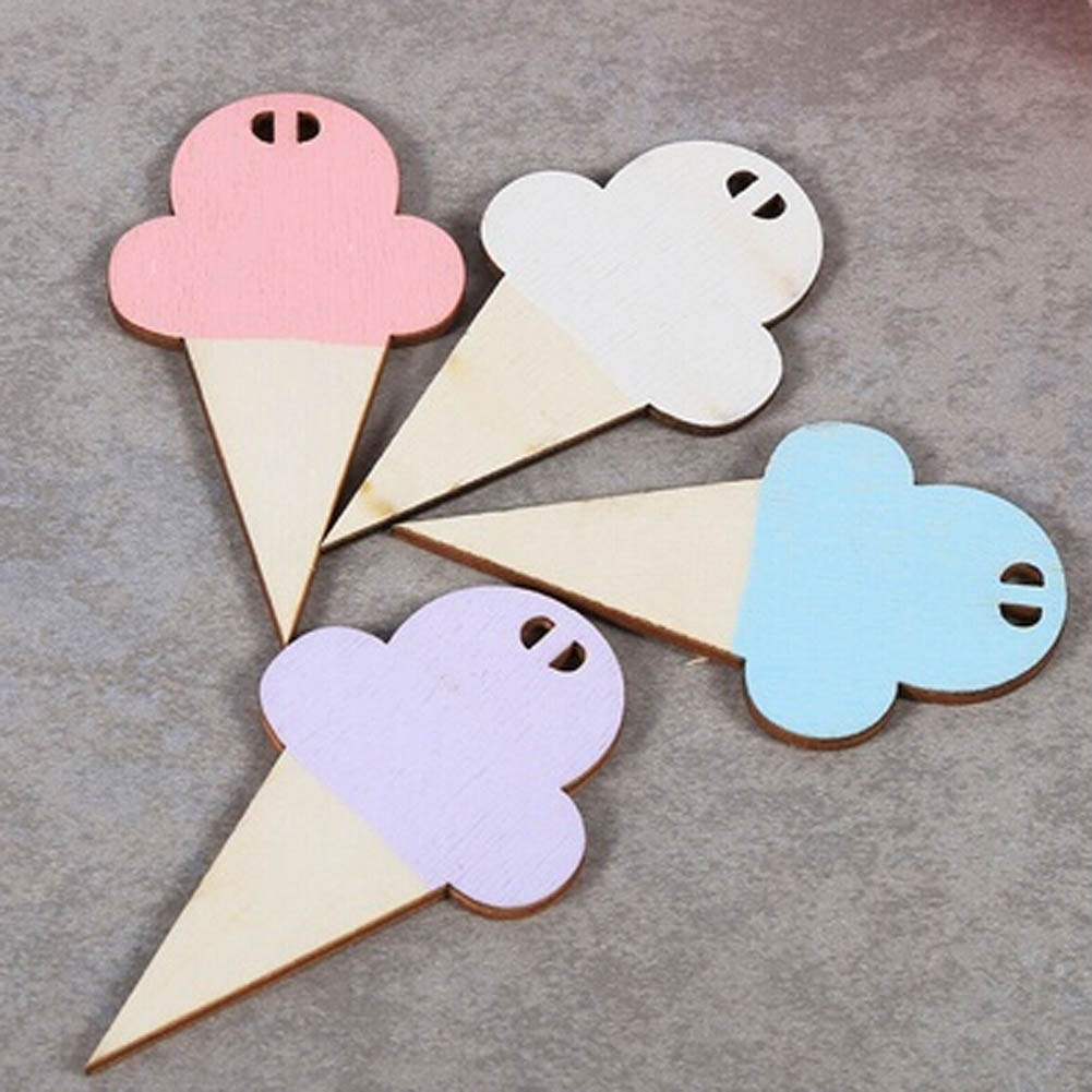 10pcs set diy wooden ice cream wall hooks home wall decorative for children kids room decor baby - Kids decorative wall hooks ...