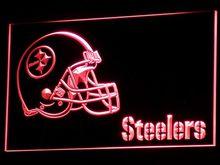 B333 Питтсбург шлем неоновый знак