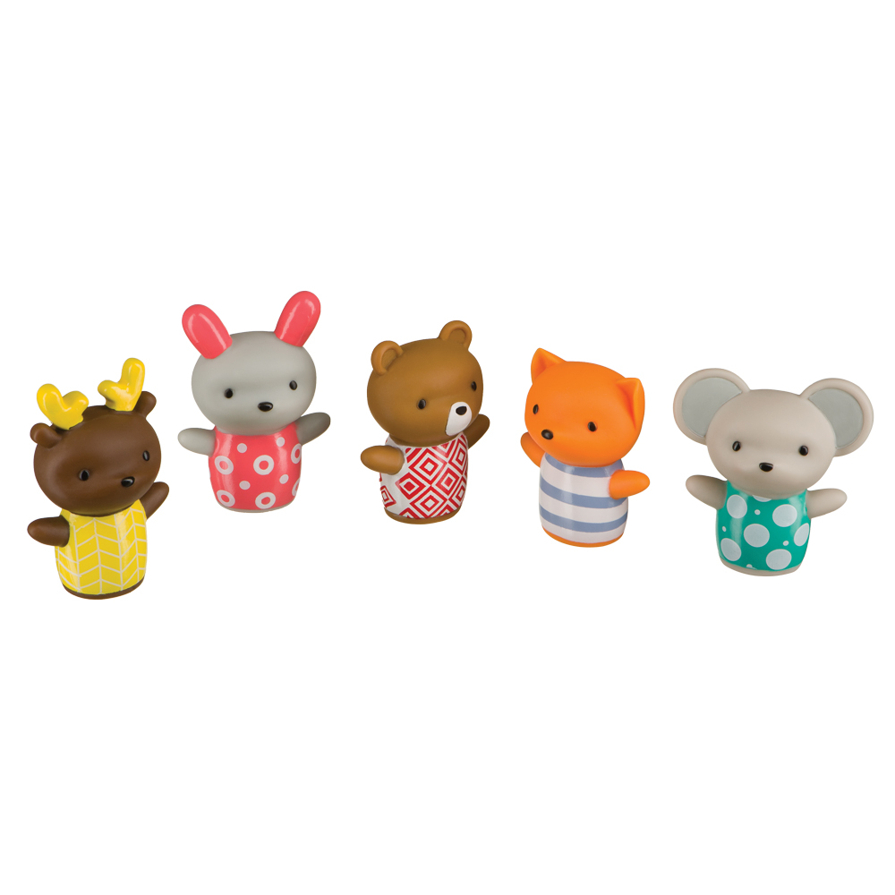 Set of toys on fingers LITTLE FRIENDS Happy Baby 32024 circle of friends