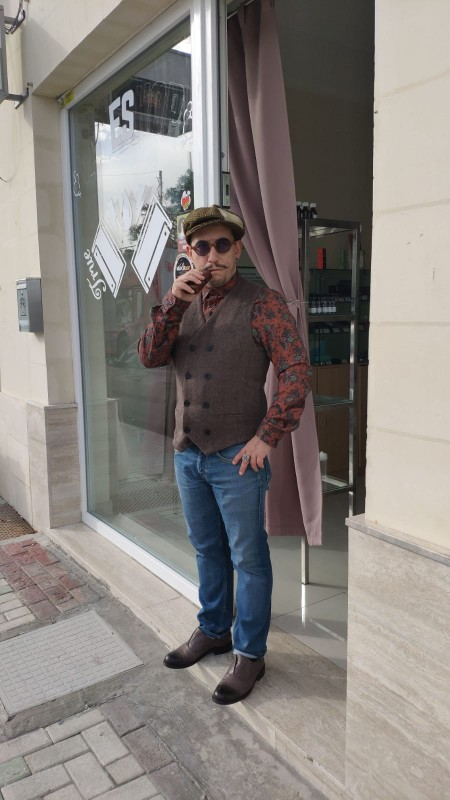 Mens Double Breasted Vest Men Dress Suit Vest Men Formal Grey Vest Suit Gilet Vest Slim Business Jacket Tops homme spring M51