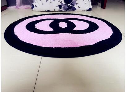 60x60 cm/70x70 cm/80x80 cm créatif chaud rose/noir chambre tapis salon sol tapis rose chaise tapis antidérapant décoration de la maison - 5