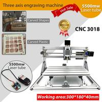 CNC 3018 Mini Engraving Machine 5500mw 2500mw Laser PCB Milling Machine Wood Carving Machine GRBL Control