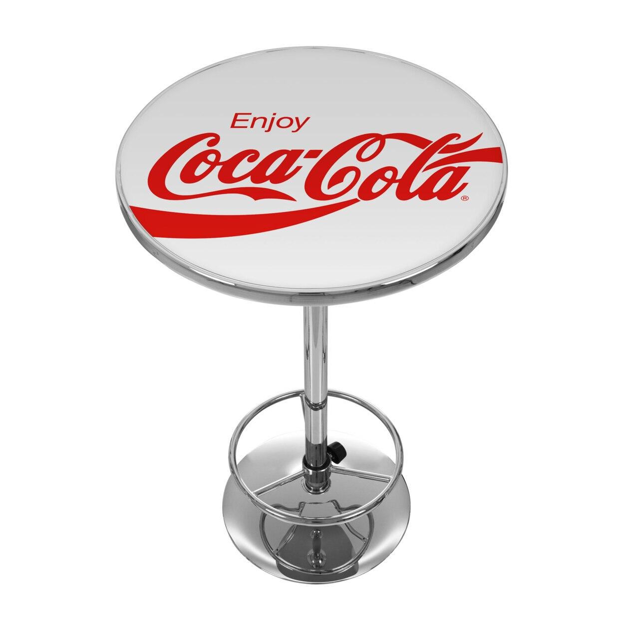 цена Enjoy Coke White 42 Inch Pub Table онлайн в 2017 году