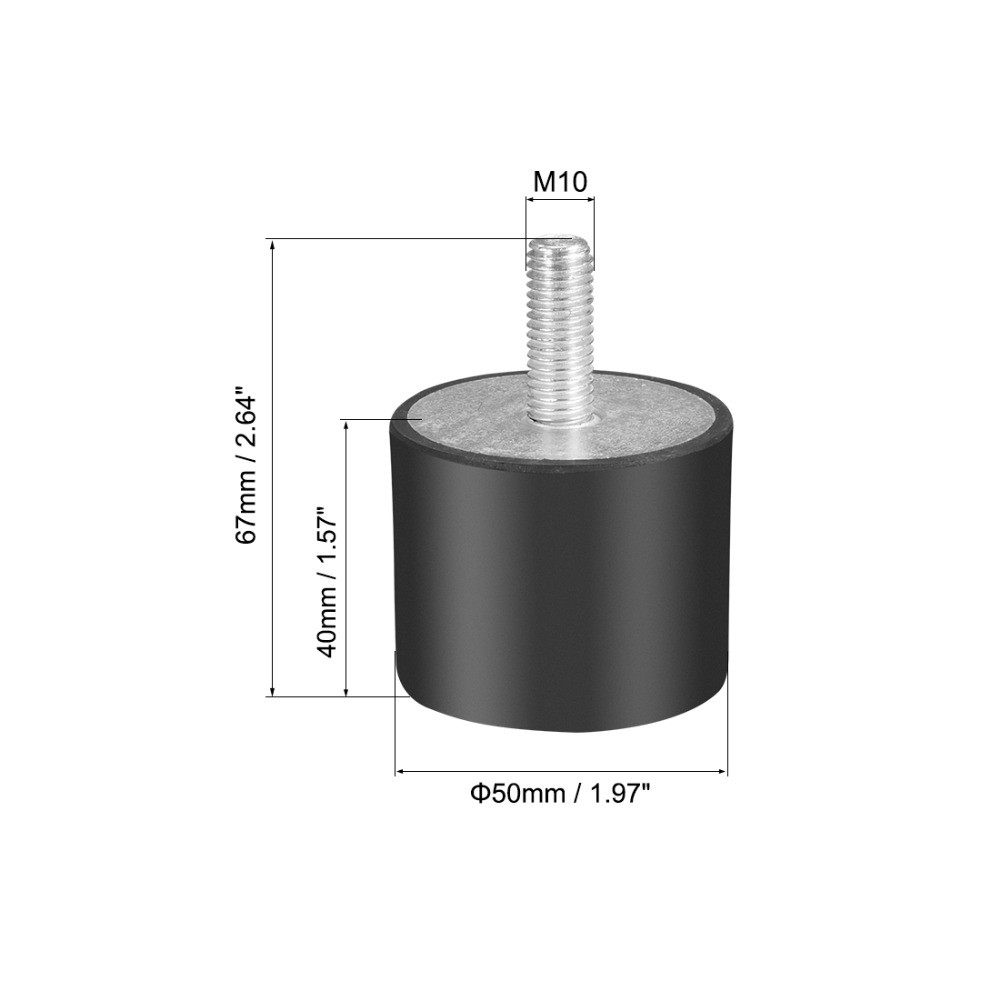 3pcs 10mm M4 Male to Male Rubber Anti Vibration Screw Damper Shake Reduction