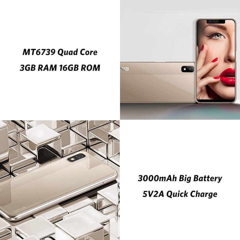 """פנסים מופעלי סוללות ELEPHONE A4 3GB 16GB Mobile Phone 8.1 אנדרואיד פנים מזהה 5.85"""" 1440 * 720P HD + 18: 9 במסך מלא 13MP + 5MP MTK6739 Quad-core? (4)"""
