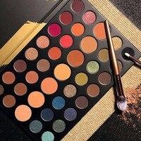 Профессиональные Новый 39 Цвет Палитра теней Shimmer матовая красоты составляют палитру набор Smoky Eye Shadow макияжа