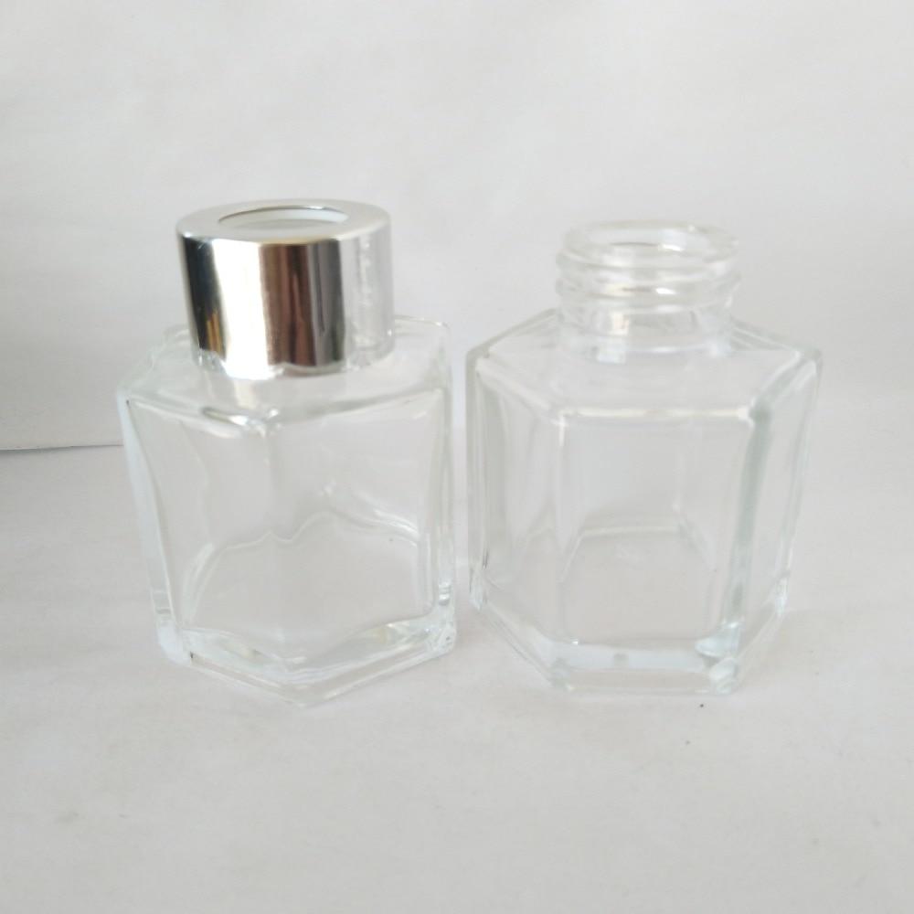 10pcs/lot 50ml Hexagon Glass Bottle Hexagon used for Reed Diffuser 46X63mm 100g glass bottle