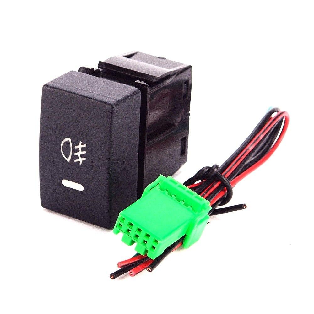 Interruptor de luz antiniebla DE COCHE JanDeNing, botón de interruptor LED de coche 12V para Honda Accord/XR-V/Civic/City con Cable de 200mm 5 uds., panel de luces Interior para coche de 4mm/0,16