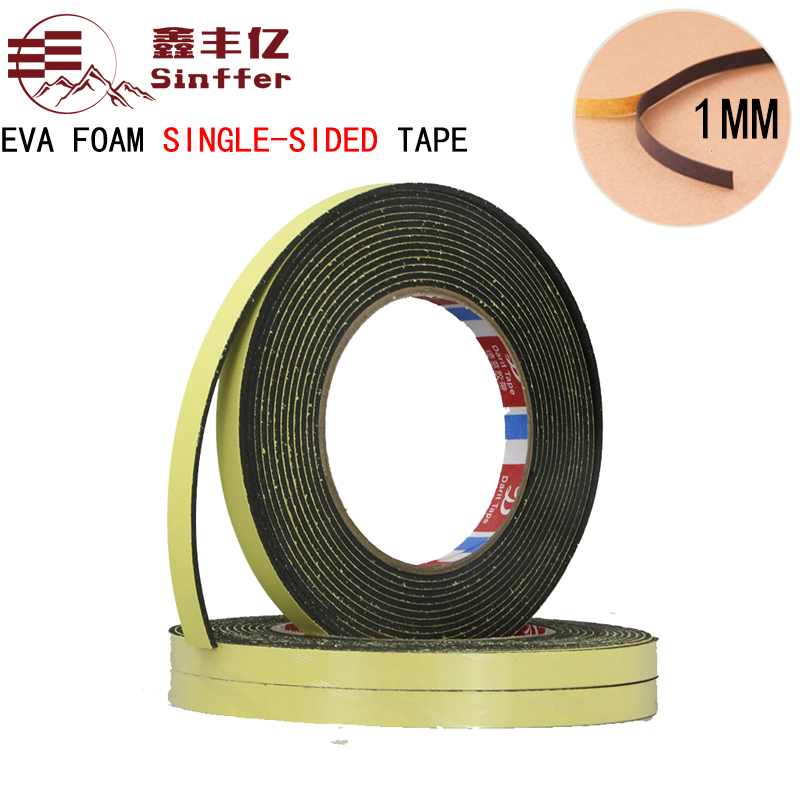 1mm thick 10m length EVA Sponge Single - sided Foam Tape waterproof EVA Black and white Foam Tape 25mm x 1mm double sided self adhesive shockproof sponge foam tape 10m length