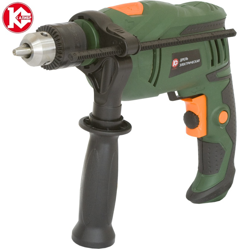 Impact electric drill Kalibr DE-580ERU, 580W, 0-3000 ob/min lithium battery socket wrench hand drill chuck bit hammer installation power tools cordless electric wrench impact