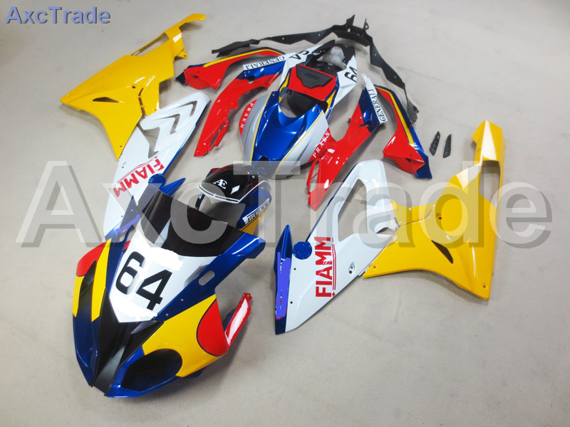 Motorcycle Fairings Kits For BMW S1000RR S1000 2015 2016 15 16 ABS Plastic Injection Fairing Bodywork Kit Yellow Blue Black A449 motorcycle blue bodywork kit fairing for bmw s1000rr s 1000 rr s 1000rr 2015 15 injection mold fairings cowl set uv painted