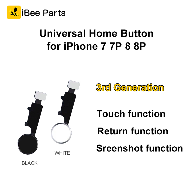 IBee Pièces Nouveau Produit Pour iPhone 7 7 Plus 8 8 Plus la maison bouton avec touch retour fonction d'écran fonction