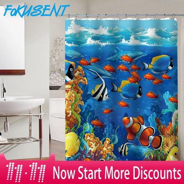 FOKUSENT Nuovo Design Colorato Pesci Tropicali Barriere Coralline Tessuto In Pol