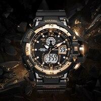 2018 Men Military Watch Waterproof Wristwatch LED Quartz Clock Sport Watch Male relogios masculino 1376 Sport S Shock Watch Men
