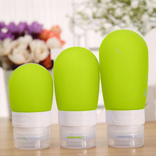 1pc 38ml 60ml 80ml Empty Silicone Travel Packing Press Bottle For Lotion Shampoo Bath Small Sample Containers