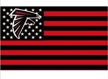 Atlanta Falcons bandeira DOS EUA com estrela e tira 3x5 PÉS Bandeira(China) 77798f343b1