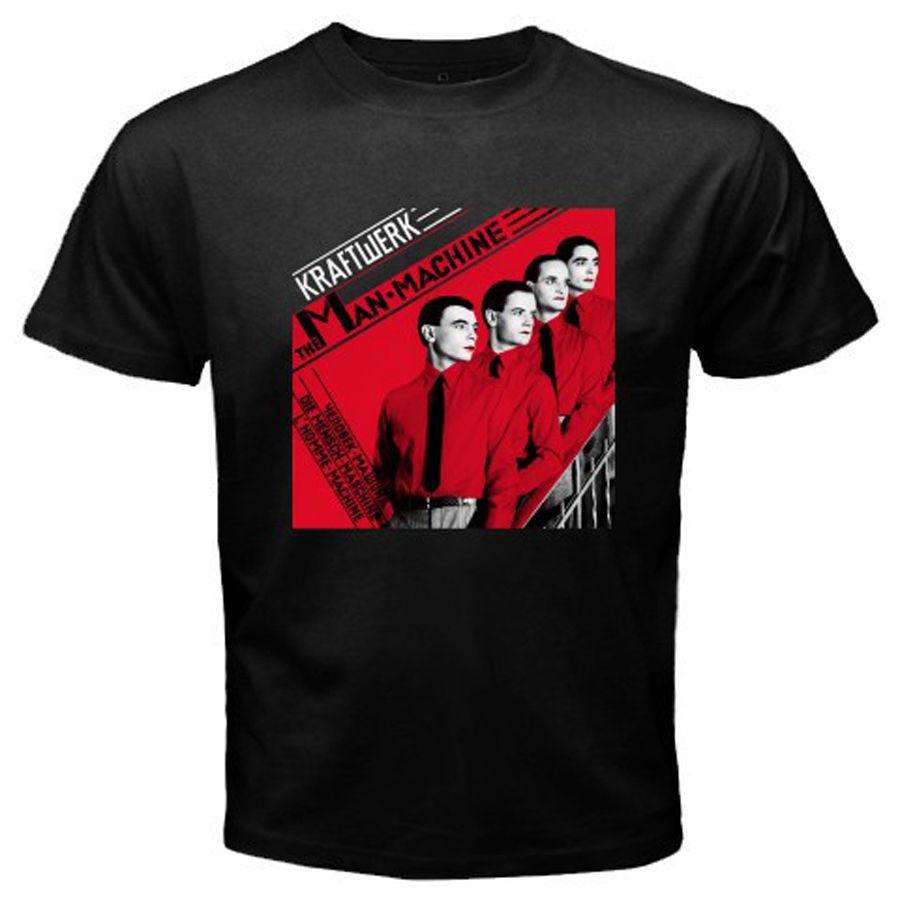 Newest Funny KRAFTWERK Man Machine Electronic Band Legend Mens Black T-Shirt Size S-3XLPrint Summer Tops Tees