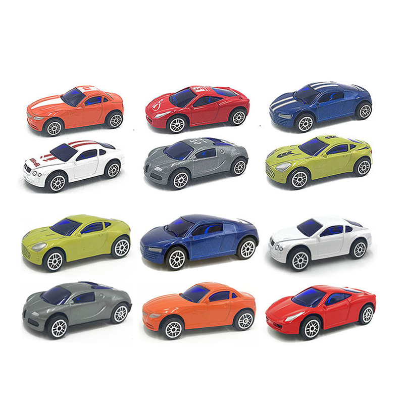 48pcs Sliding alloy car Cute Toy Cars For Child Wheels Mini Car Model Kids Toys For Boys Racing funny gift 12 types