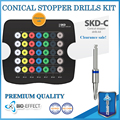 Dental Implant Surgical Conical Stopper Drills Kit Top Quality ,35 Premium Stopper Drills+High Quality Box,Clearance Price!