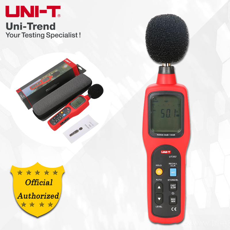 UNI-T UT352 Sound Level Meter; Industrial/Home Professional Noise Meter, High/Low Limit Alarms/Analogue Bar Graph/Data Logging