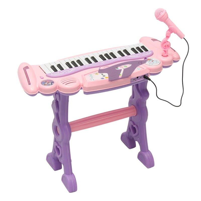 Rose 37 clés enfants clavier électronique Piano orgue jouet/Microphone musique jouer enfants jouet éducatif cadeau pour les enfants - 2