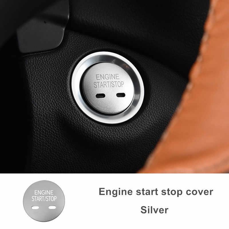 Voiture moteur démarrage arrêt anneau système de démarrage sans clé bouton décoration couvre voiture style pour Chevrolet Equinox Cadillac XT5 MG6