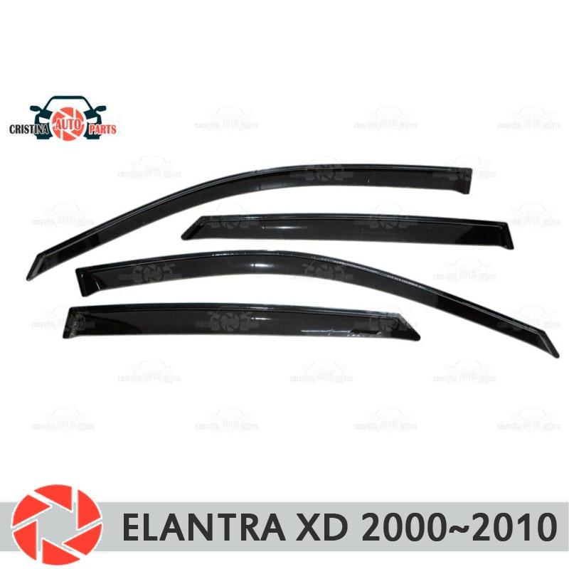 Déflecteur de fenêtre pour Hyundai Elantra XD 2000-2010 déflecteur de pluie protection contre la saleté accessoires de décoration de voiture moulage