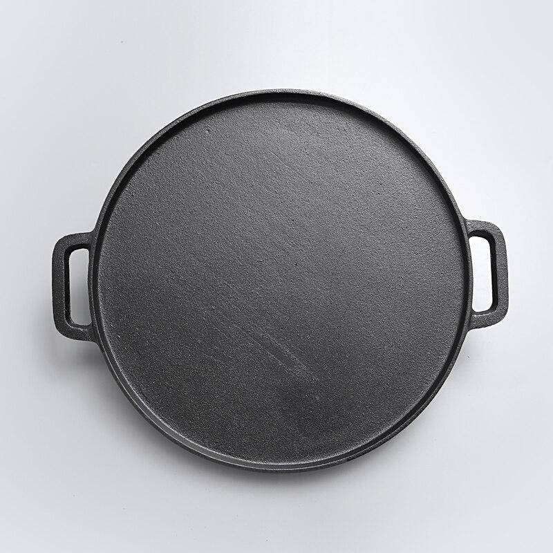 Steak frit deux faces ancienne poêle en fonte épaissie rayure Flapjack barbecue pot antiadhésif électromagnétique four rôtissoire - 5
