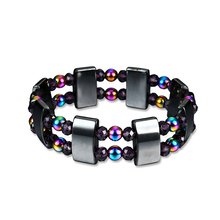 Double Layers Multi-Color Beads Magnetic Hematite Bracelet Pain Relief Jewelry