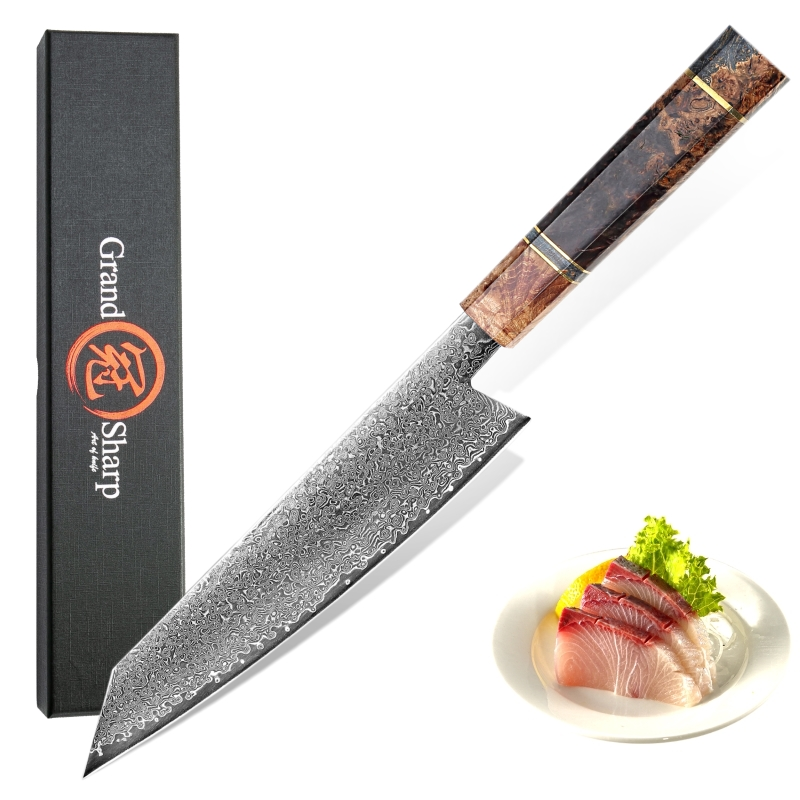 Handmade Chef Knife Japanese Damascus Steel Kiritsuke 67 layers VG10 Luxury Kitchen Knives Professional Cooking Tools