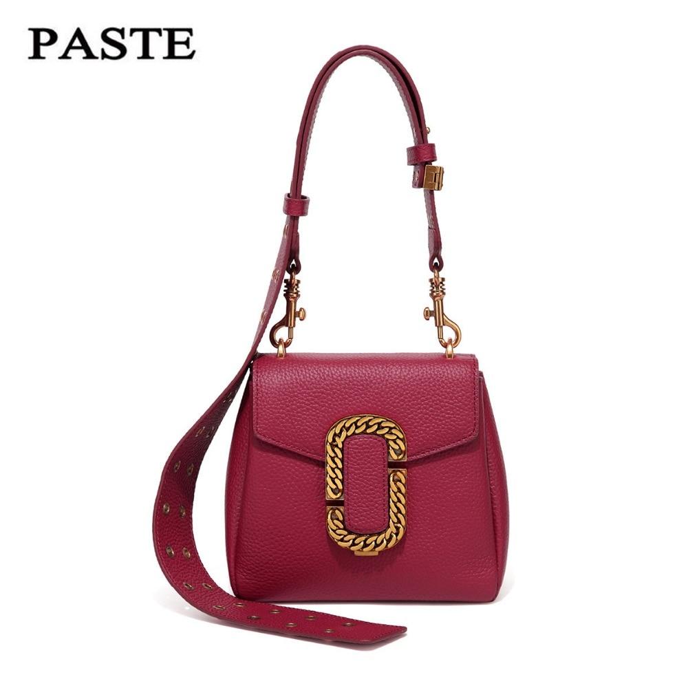 2017 PASTE New Genuine Leather Luxury famous brand Handbags Women designer vintage Summer Small Soft Crossbody messenger Bags  title=