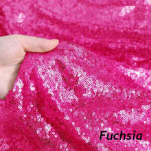 2Yard Embroidery Sequin Fabric Material Fuchsia Sparkly Used to Make Clothes Shoes Bags Wedding Partie Event Decor -9527