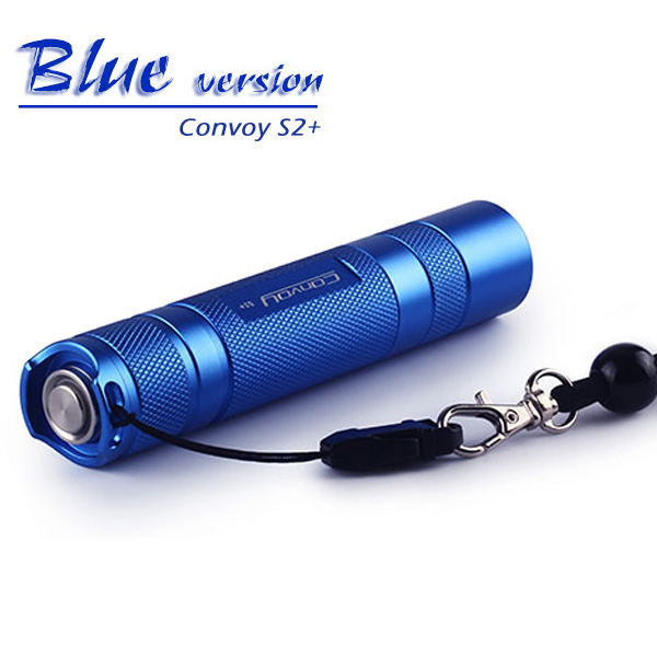 Convoy S2+Aluminum alloy Blue XM-L2 7135x8 3/5 Modes EDC MAX 1067LM LED Light Flashlight Torch Camping light, Lamp,for bicycle d09 aluminum alloy bicycle cnc front fork washer blue white 28 6mm