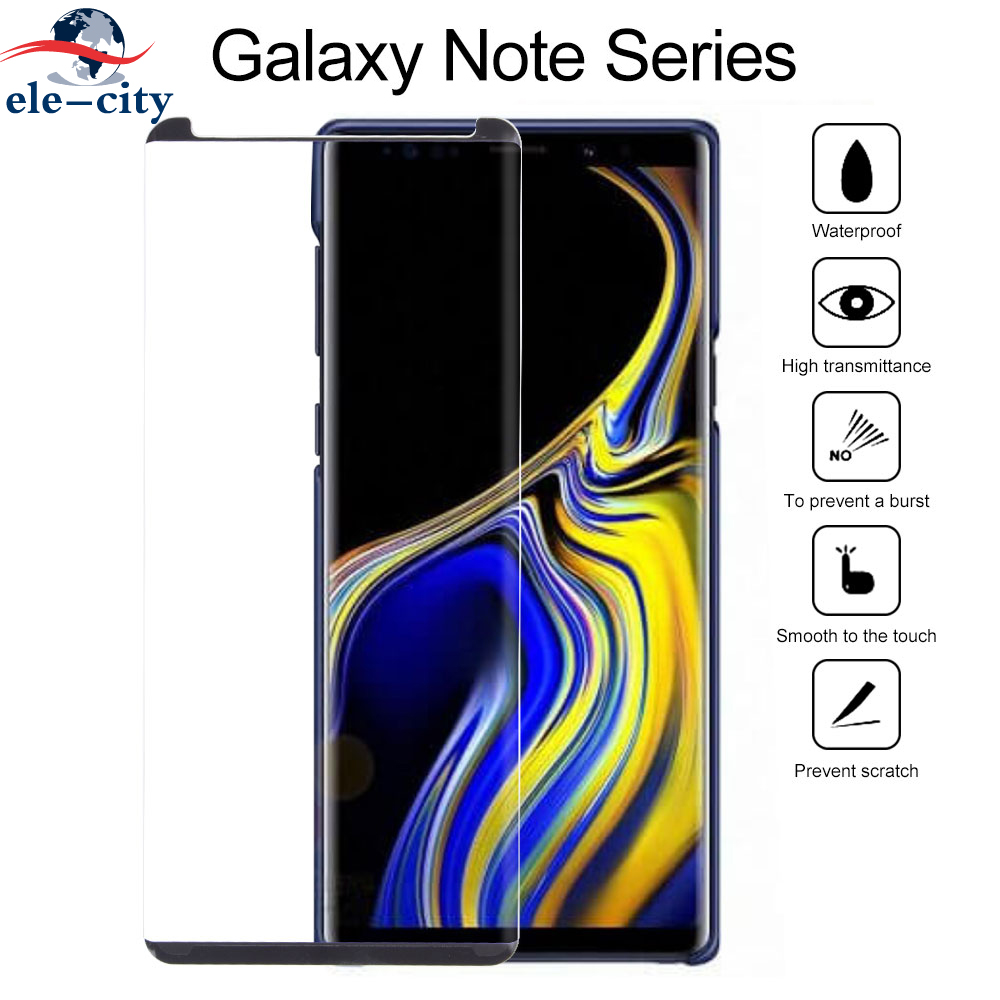 3D Curved Full Cover Tempered Glass Screen Protector Film with Hot Bending for Samsung Galaxy Note 9 Form Fit To Case 50pcs/set