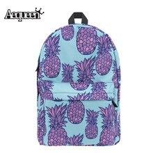 Aequeen ананас 3D печати Рюкзаки модные женские туфли рюкзак ткань Оксфорд школьный для подростков колледж путешествия packbags