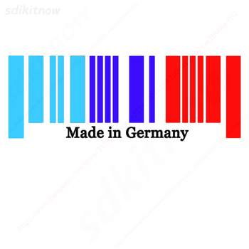 9x25cm Made in Germany Flag DE Bar Code Car Stickers PVC Decal Styling For BMW M3 M5 X3 X5 X6 E36 E39 E46 E30 E60 E92 f34 f10 f2 image
