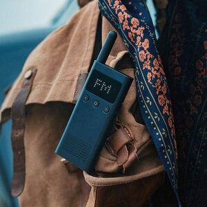 Image 4 - Originele Xiaomi Mijia Smart Walkie Smart Talkie Met Fm Radio Speaker Standby Smart Phone App Locatie Delen Snelle Team Talk nieuwe
