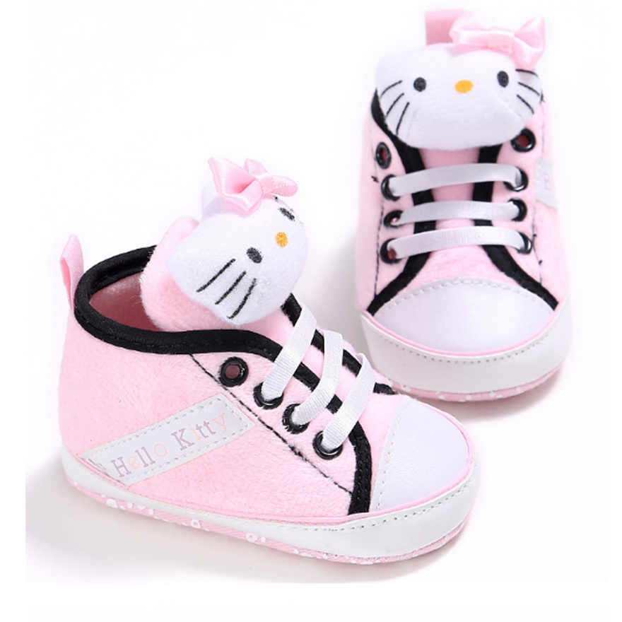 Sevimli Marka Bebek Ayakkabı Pembe Kitty Neonata Botları Yenidoğan Chaussure Sarı Winnie Erkek Rahat Patik Bebe Sapatos Kız Bebek Ayakkabı