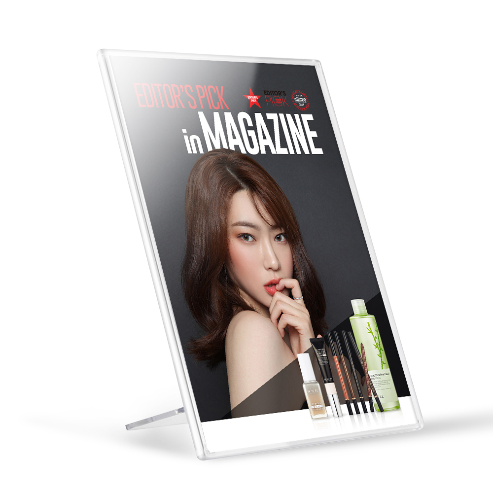 A4 Plastic Acrylic Sign Holder Picture Paper Advertisement Display Stand Menu Photo Frame Card Sign Board