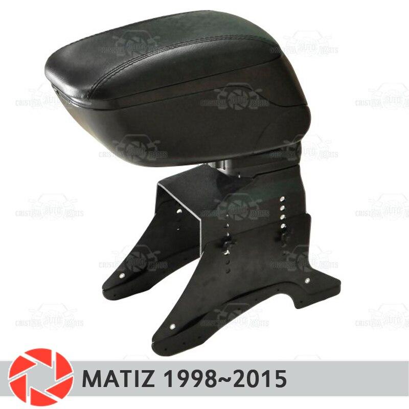 Apoio de braço para Daewoo Matiz 1998~2015 carro descanso de braço consola central caixa de armazenamento de couro cinzeiro acessórios do carro styling